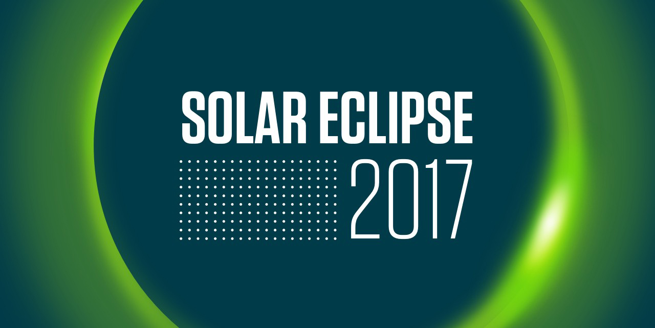 Eclipse graphic with text: Solar Eclipse 2017