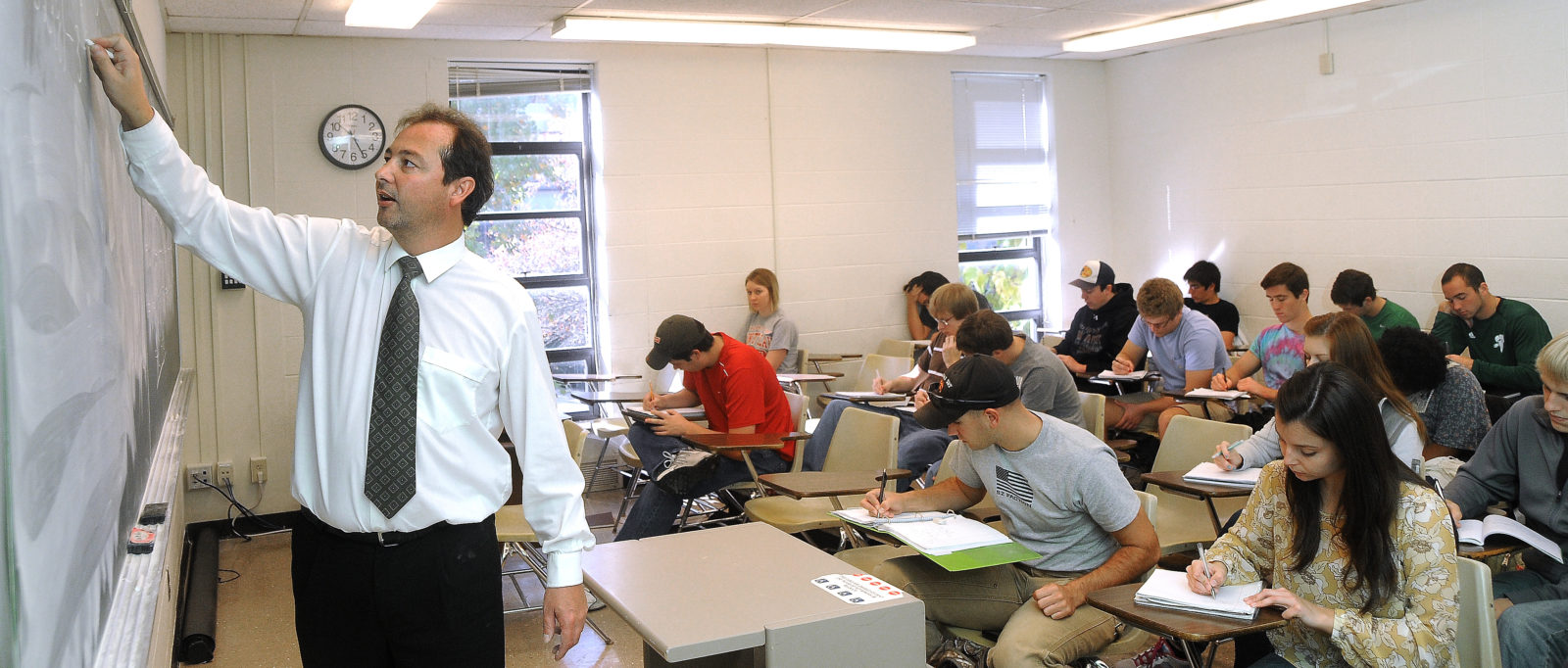 Martin Bohner teaches a class.