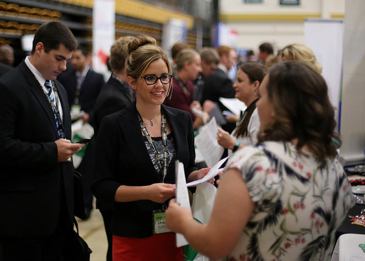 Students and employers at previous Fall Career Fair