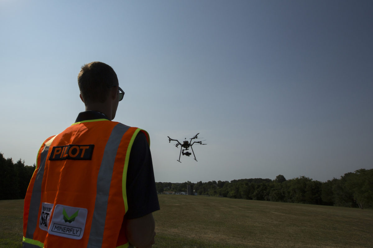 MinerFly pilot flying a drone