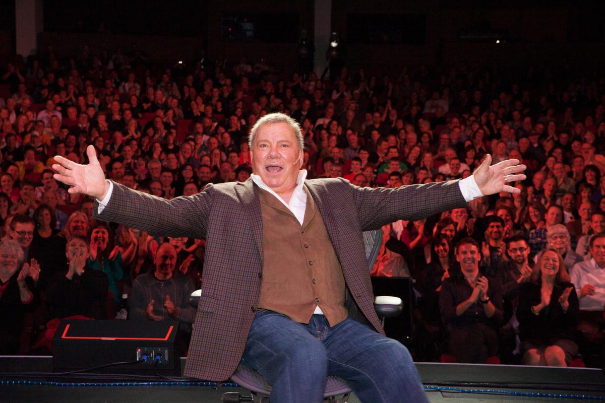 William Shatner on stage