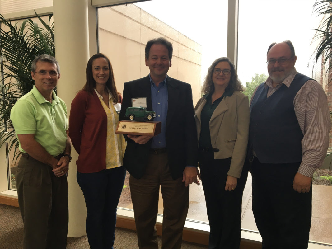 Group photo of Jeff Jennings, Amy Skyles, Dr. Stuart Baur, Dr. Christi Patton Luks and Dr. Steve E. Watkins