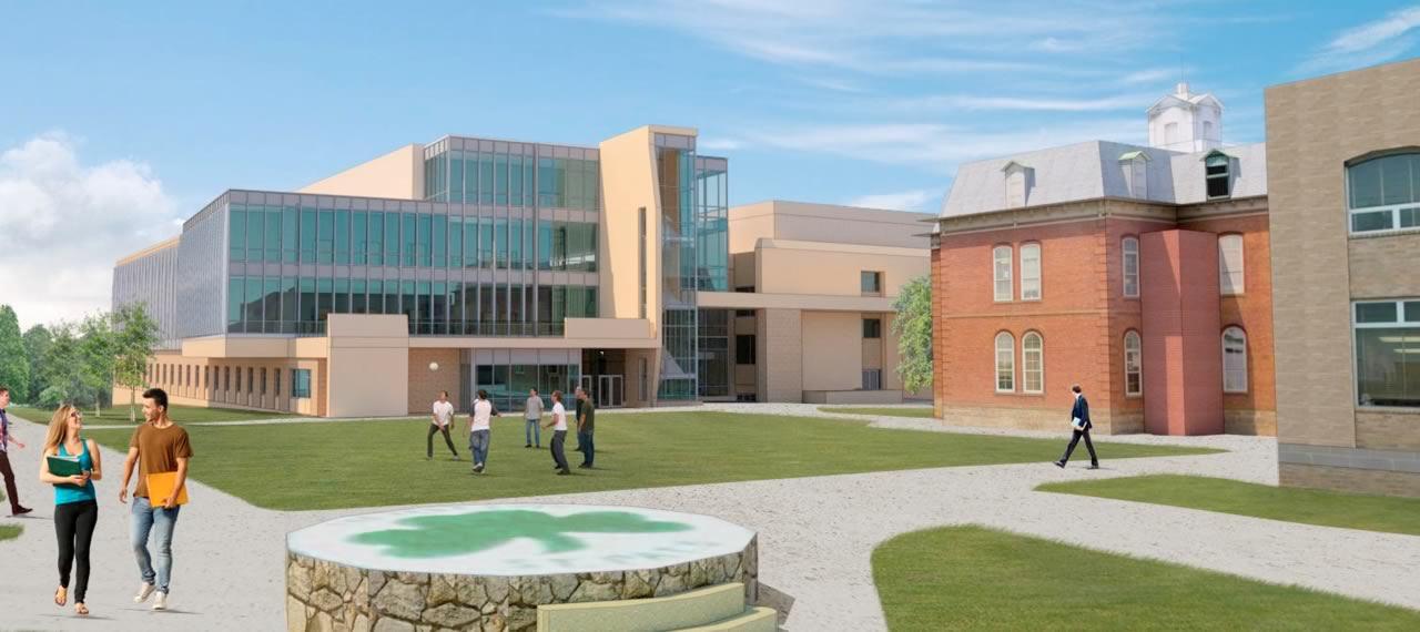 Artist's rendering of renovated Schrenk Hall