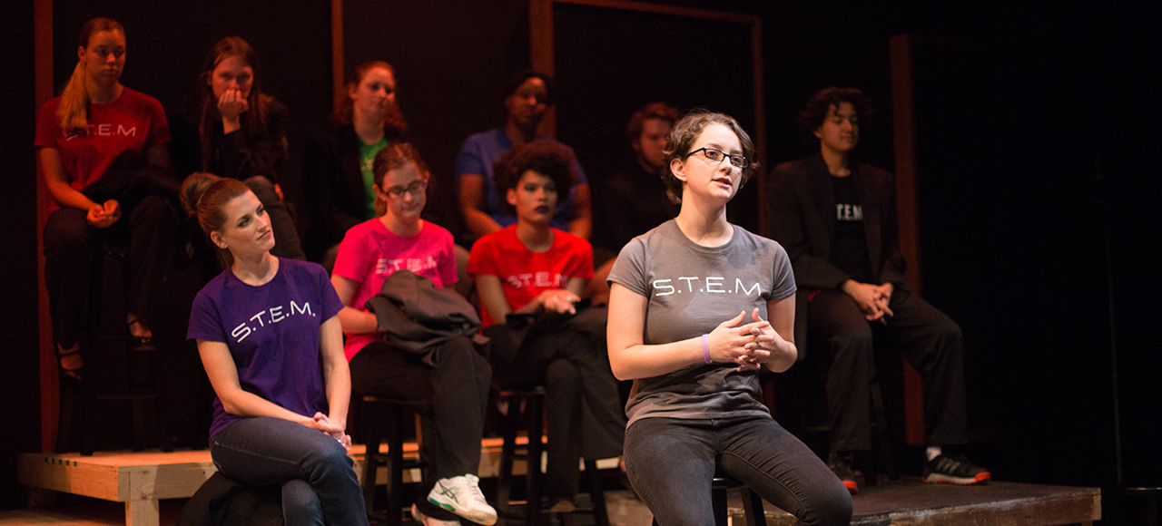 Performance of The STEM Monologues play