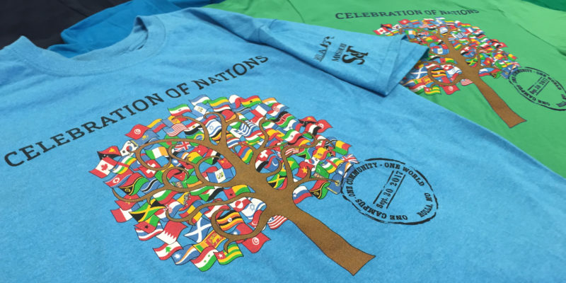 Your design could go on Celebration of Nations tee