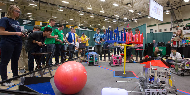 Volunteer for robotics competitions