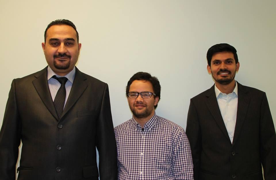 Schearer Prize winners, from left: Ph.D. students Ahmed Ibrahim, Chandra Adhikari and Basu Lamichhane