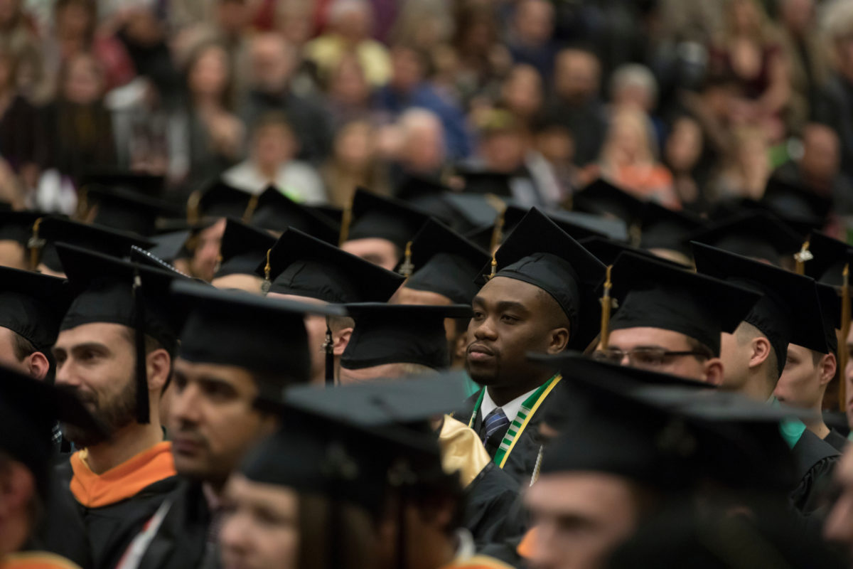 Commencement 2017: Graduates in caps and gowns