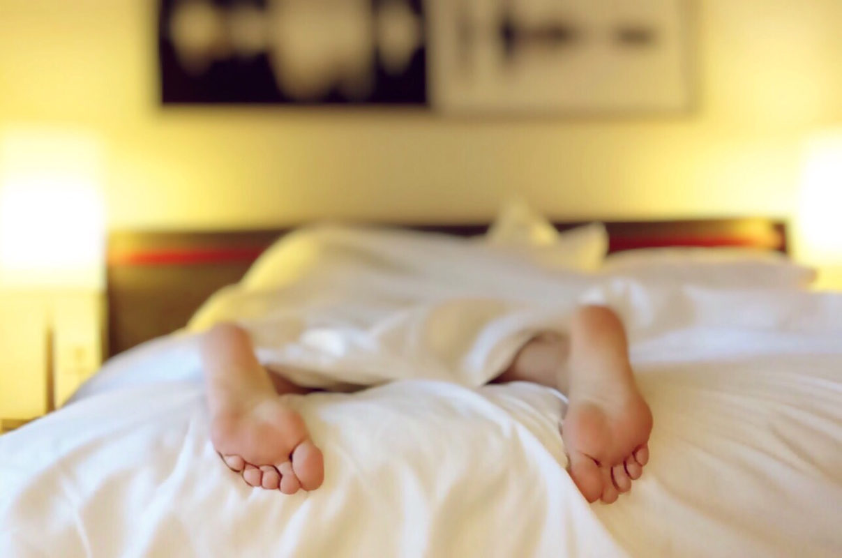 Stock image of person sleeping
