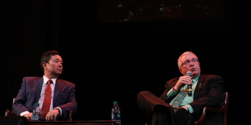 Choi announces chancellor search during fireside chat