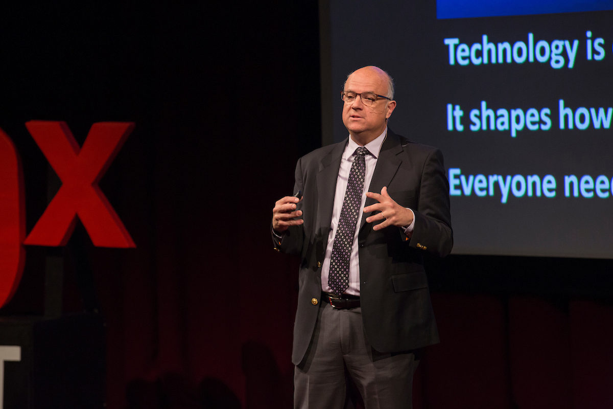 Dr. William Schonberg, shown here presenting a talk at TEDx Missouri S&T in 2017, will lecture and conduct research in Australia next year as a Fulbright scholar.