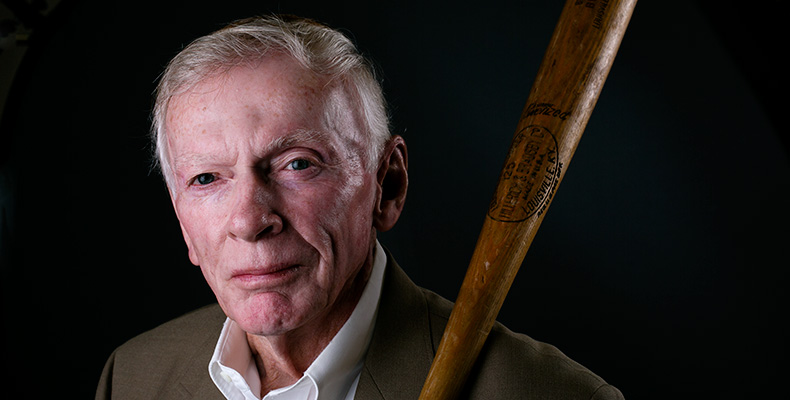 Russ Buhite portrait with baseball bat in 2014