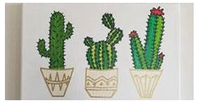 Painting of three cacti