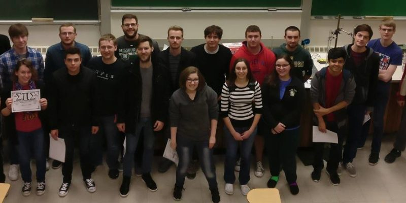 Students inducted into physics honors society