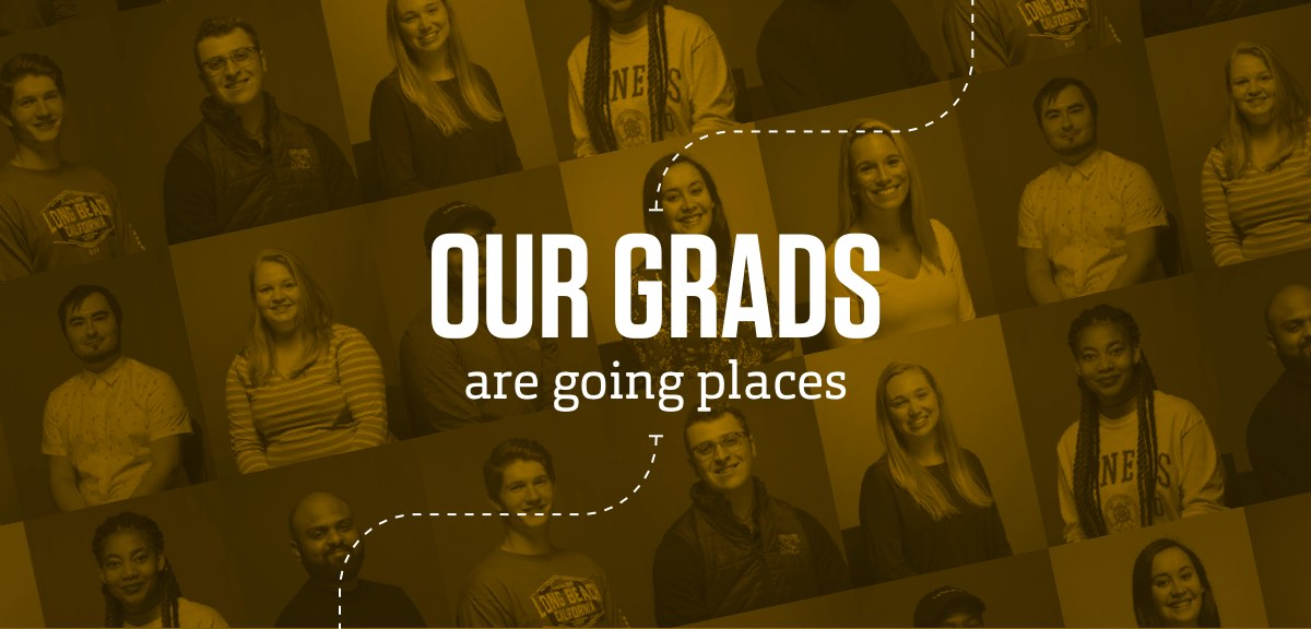 Collage of grads featured in article