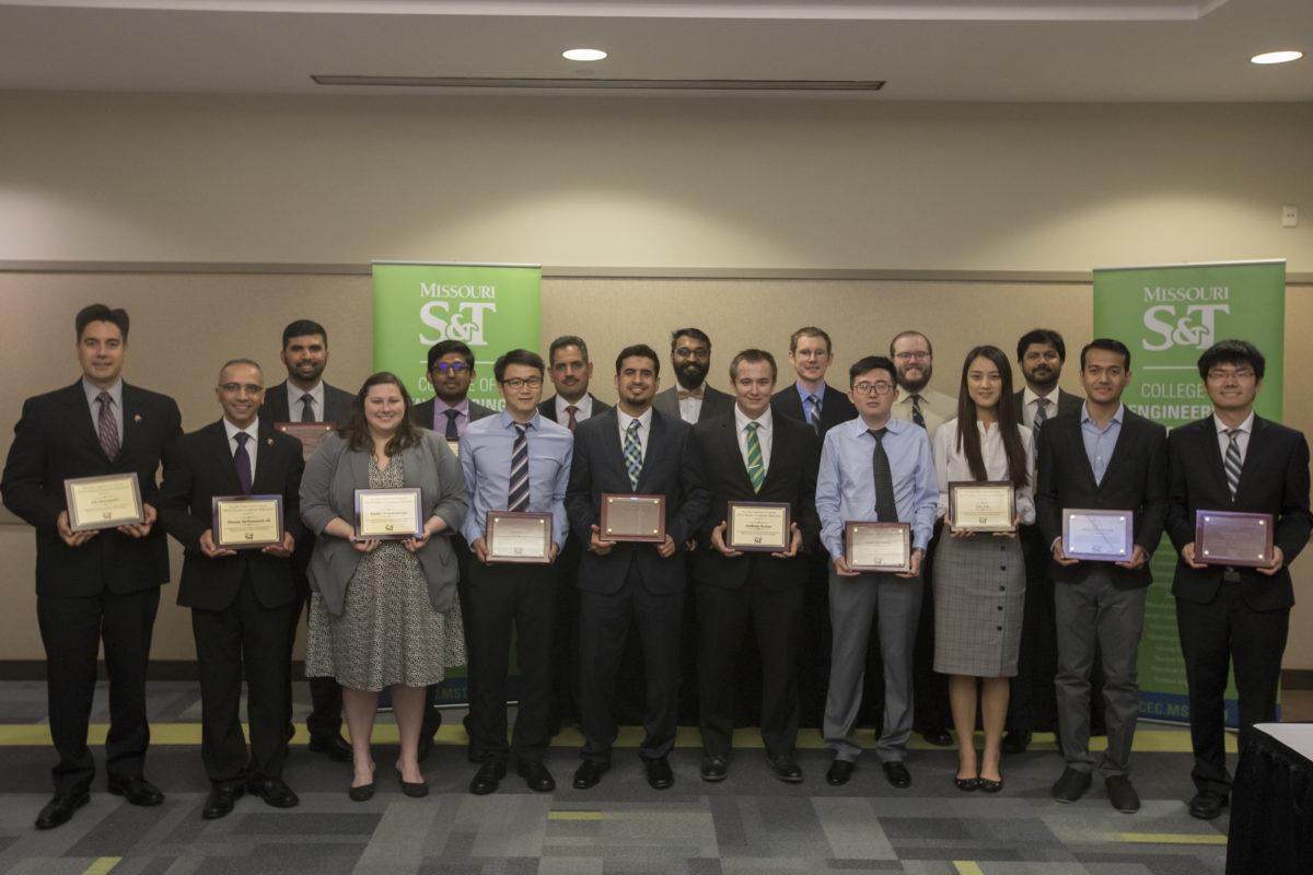 Group photo of CEC award recipients