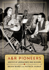"Cover of book, ""A&R Pioneers"" with artist playing guitar"