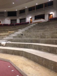 Leach theater with no seats