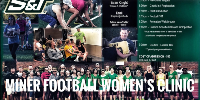 Learn about football at women's clinic on Friday