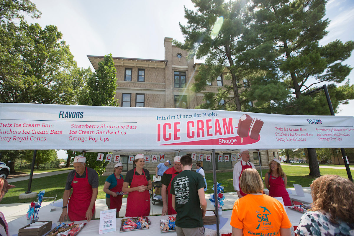 Ice cream stand at 2017 MinerRama