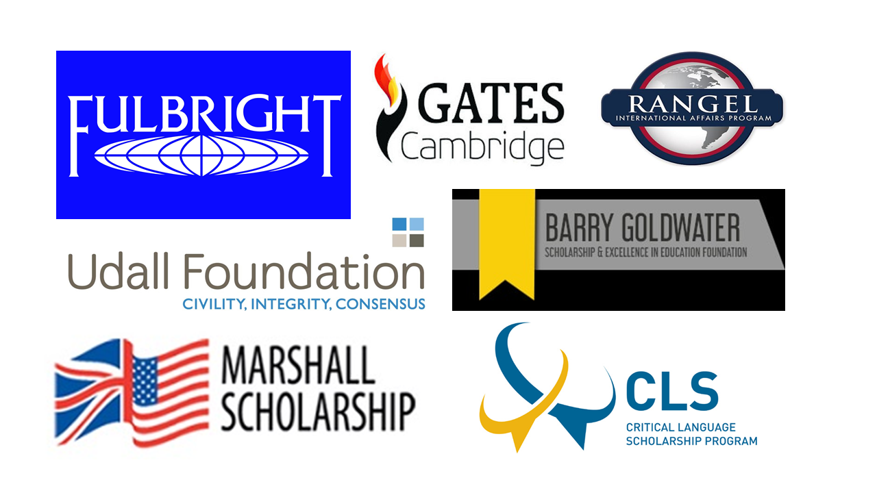 Collage of scholarship names