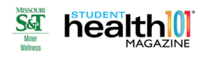 header with S&T logo and Student Health 101 Magazine