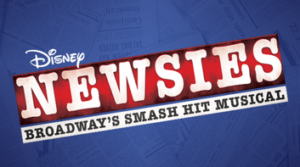 Newsies graphic with text