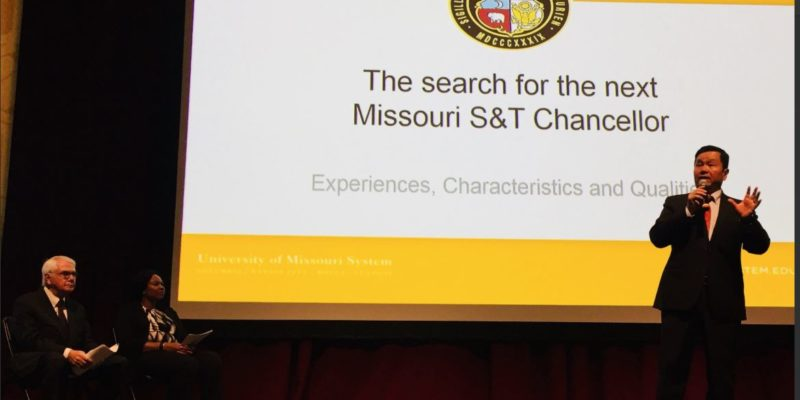 Video of chancellor search open forum available online
