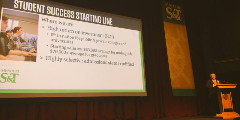 In S&T address, Maples focuses on student success, strengthening research