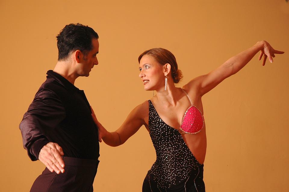 couple Latin dancing