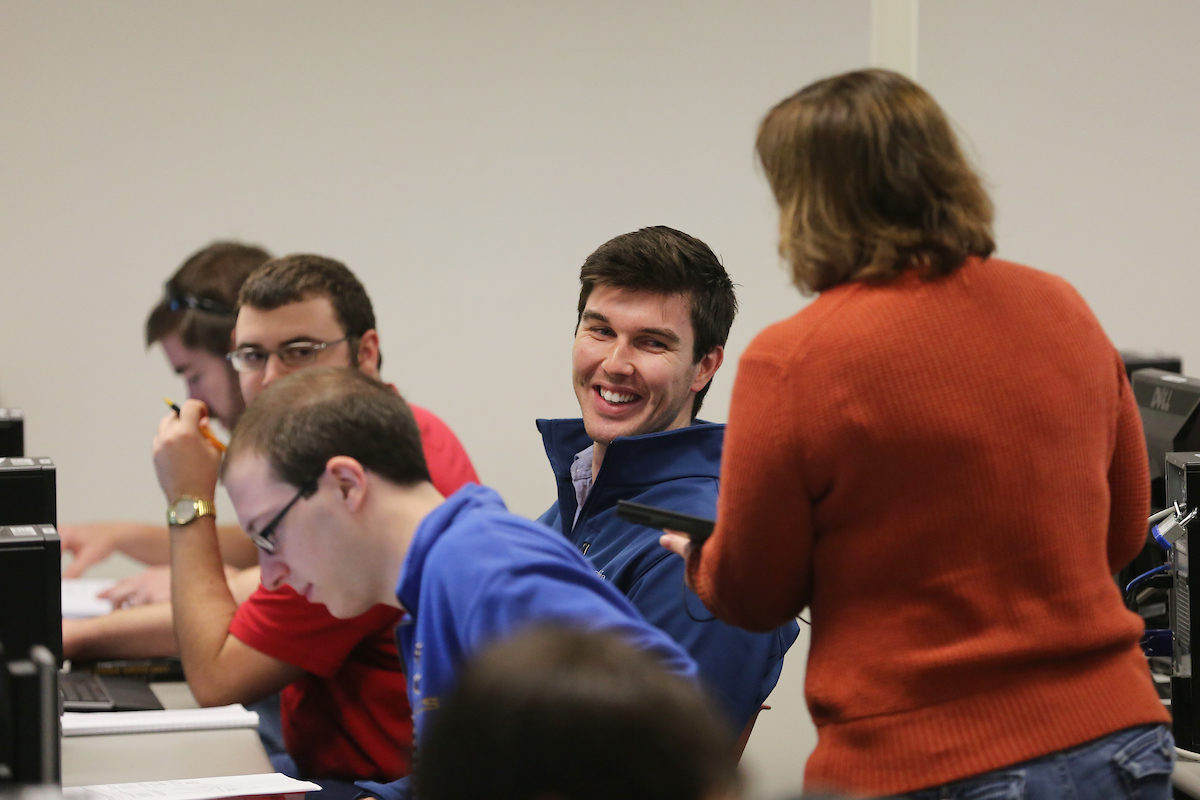 Beth Cudney teaches class