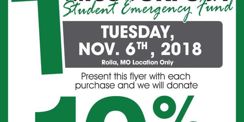Price Chopper to donate 10% of your purchase towards the Student Emergency Fund on November 6th