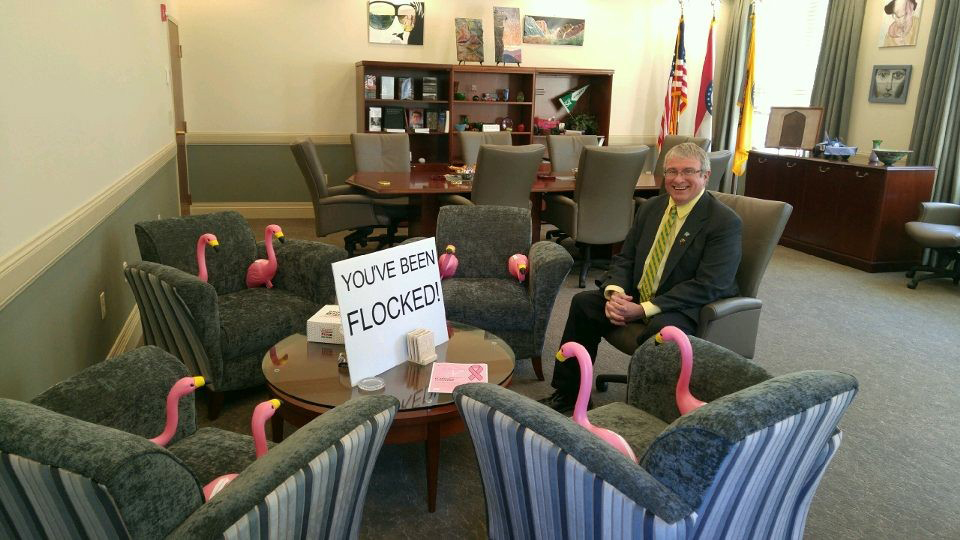 "The chancellor's office was among the workplaces ""flocked"" during the 2017 fundraiser."