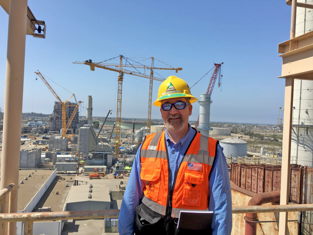 Showalter at construction site
