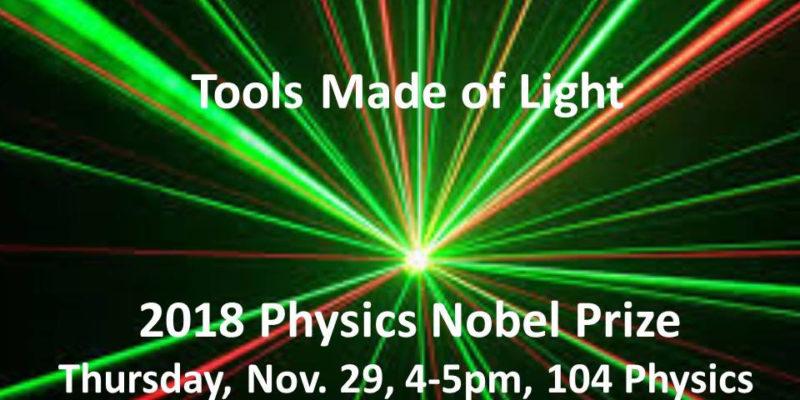 Lights, lasers, Nobel Prize