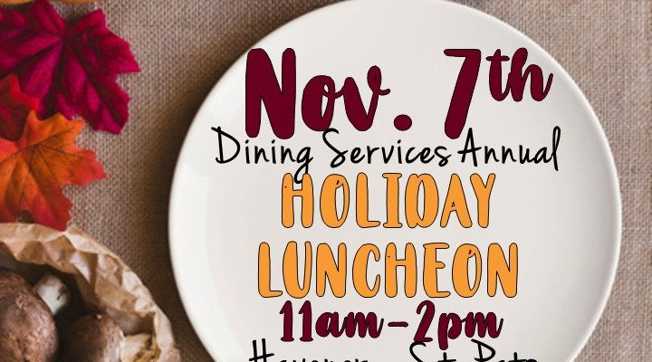 Dining services holiday luncheon