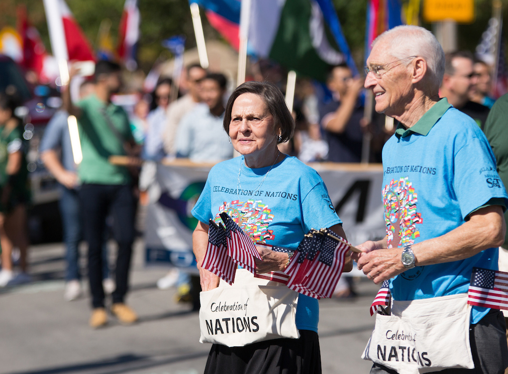Couple in CON shirts at 2017 parade