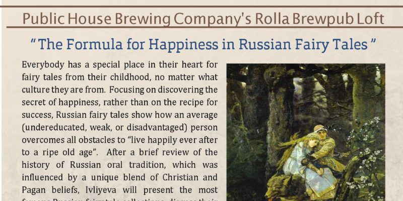 Research On Tap: The Formula for Happiness in Russian Fairy Tales