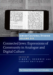 """Book cover, Connected Jews: Expressions of Community in Analogue and Digital Culture"""""""