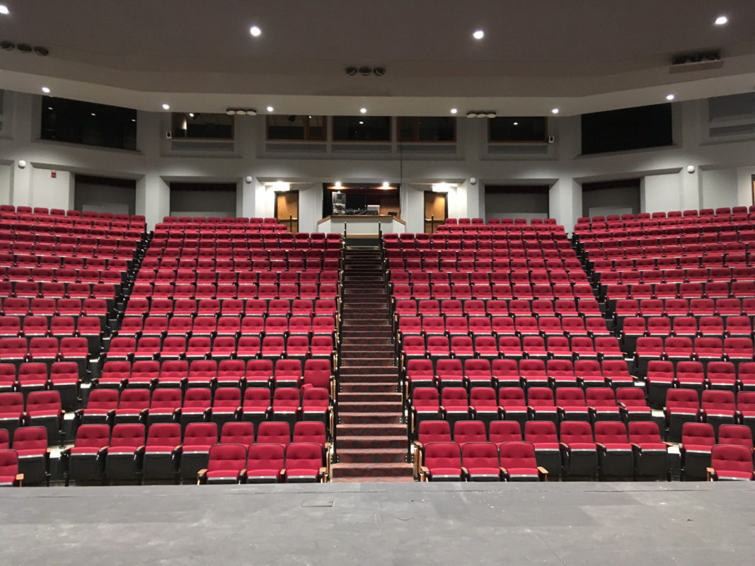 seating and steps in Leach Theatre
