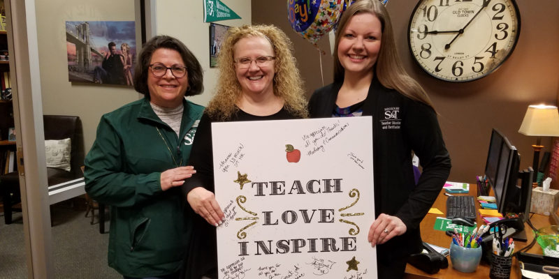 Thank you! Staff Council recognizes teacher education, certification staff