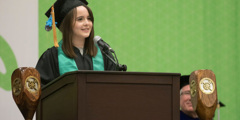 Apply by March 1 to speak at commencement