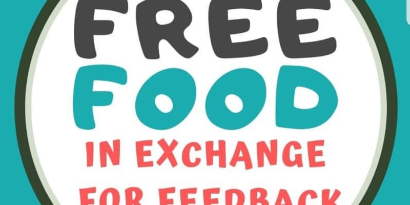 Give feedback, get free food