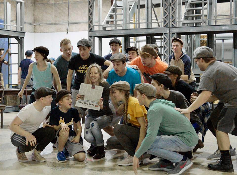 Newsies reshearsal photo