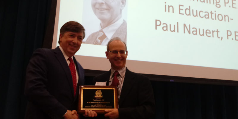 Nauert receives professional engineer award