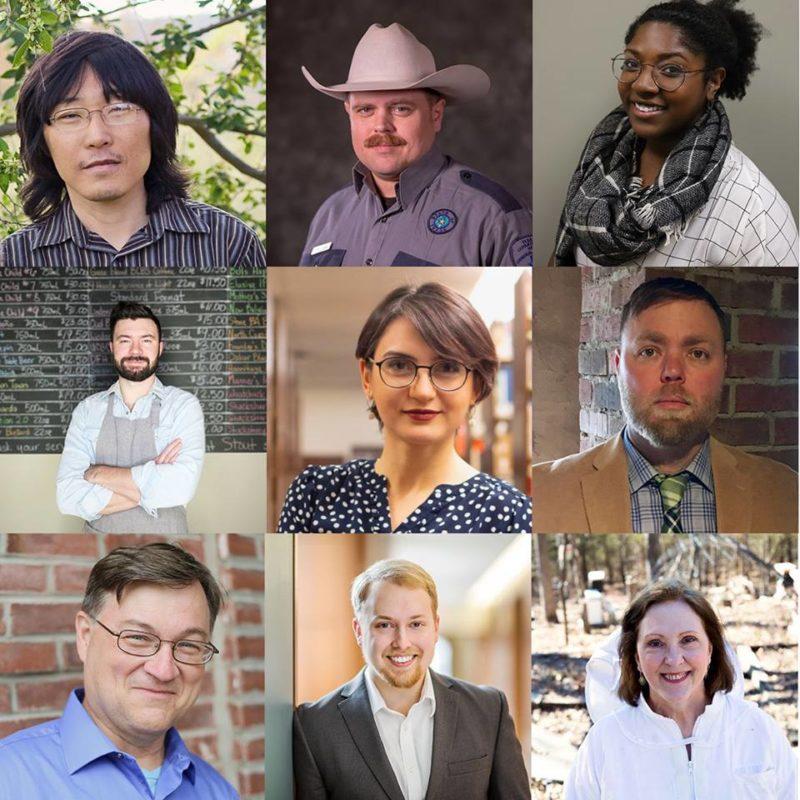 9 portraits of TEDx speakers