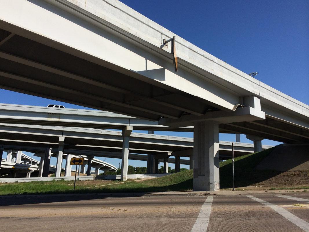overpass above highway