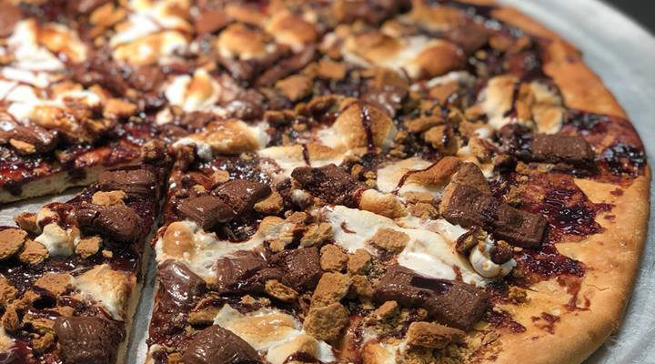 Get s'more pizza at TJ Hall