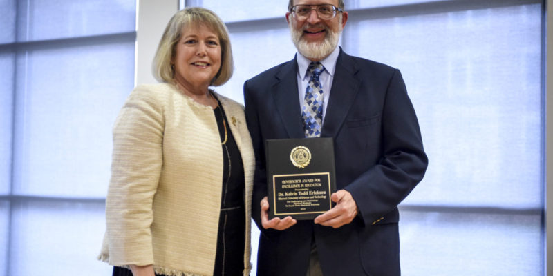 Governor's teaching award goes to Erickson