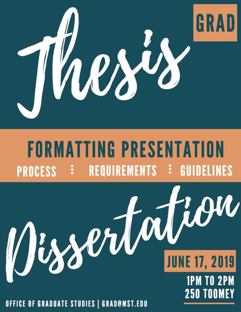 Formatting presentation